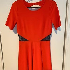 Red Fit and Flare A line Dress